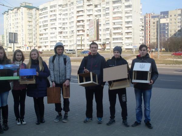 Учні  нашої школи взяли участь в акції «Годівничка»