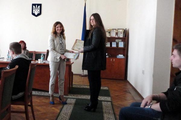 Діана Ткач - призер Обласної Інтернет-олімпіади з економіки