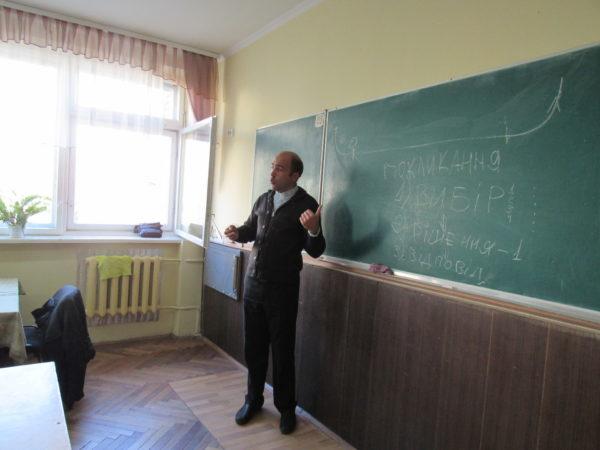 устріч учнів 8-их класів із о. Тарасом