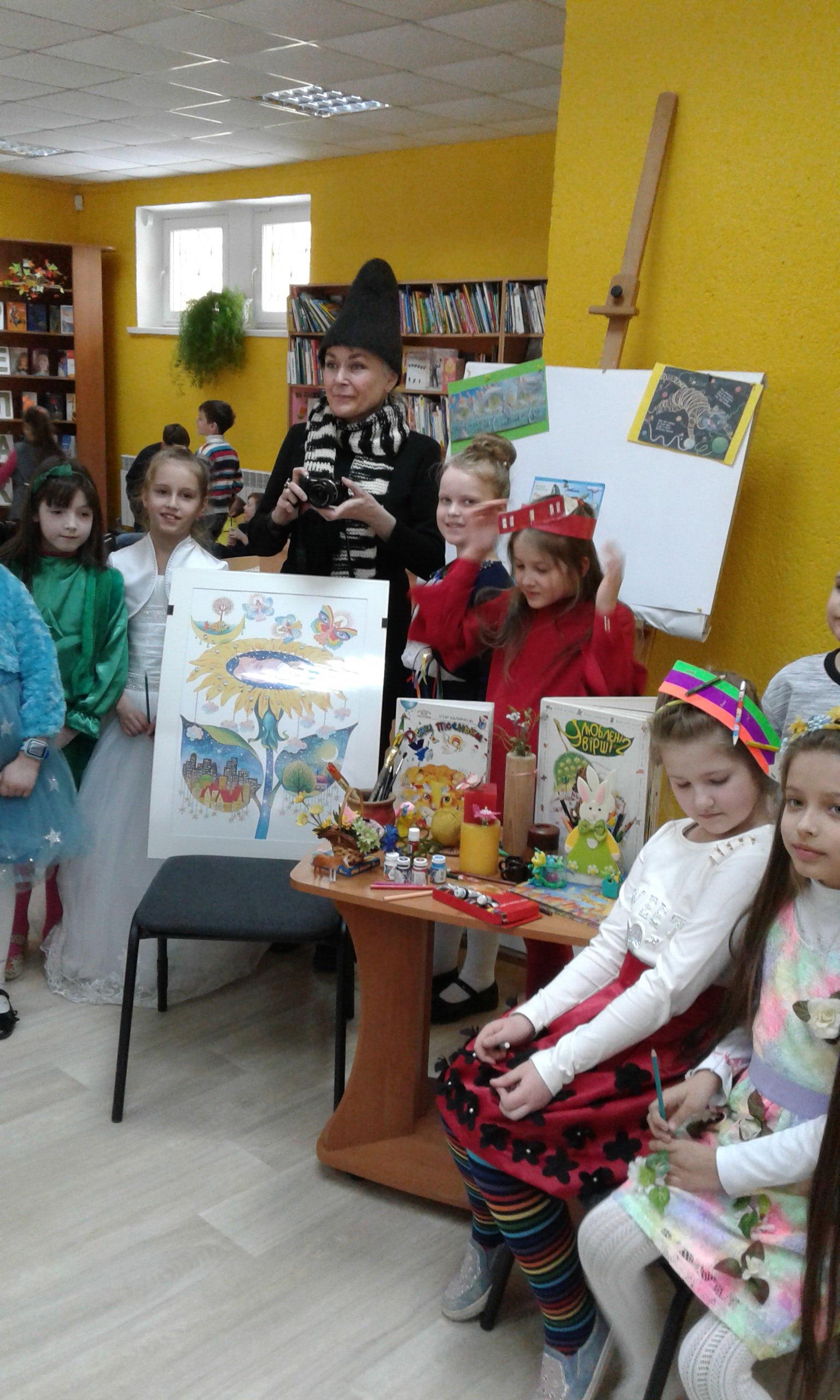 Зустріч учнів 2 В з Вікторією Ковальчук