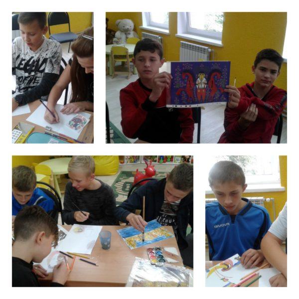 """Учні 8А класу відвідали арт-вернісаж """"Історія на полотні"""""""