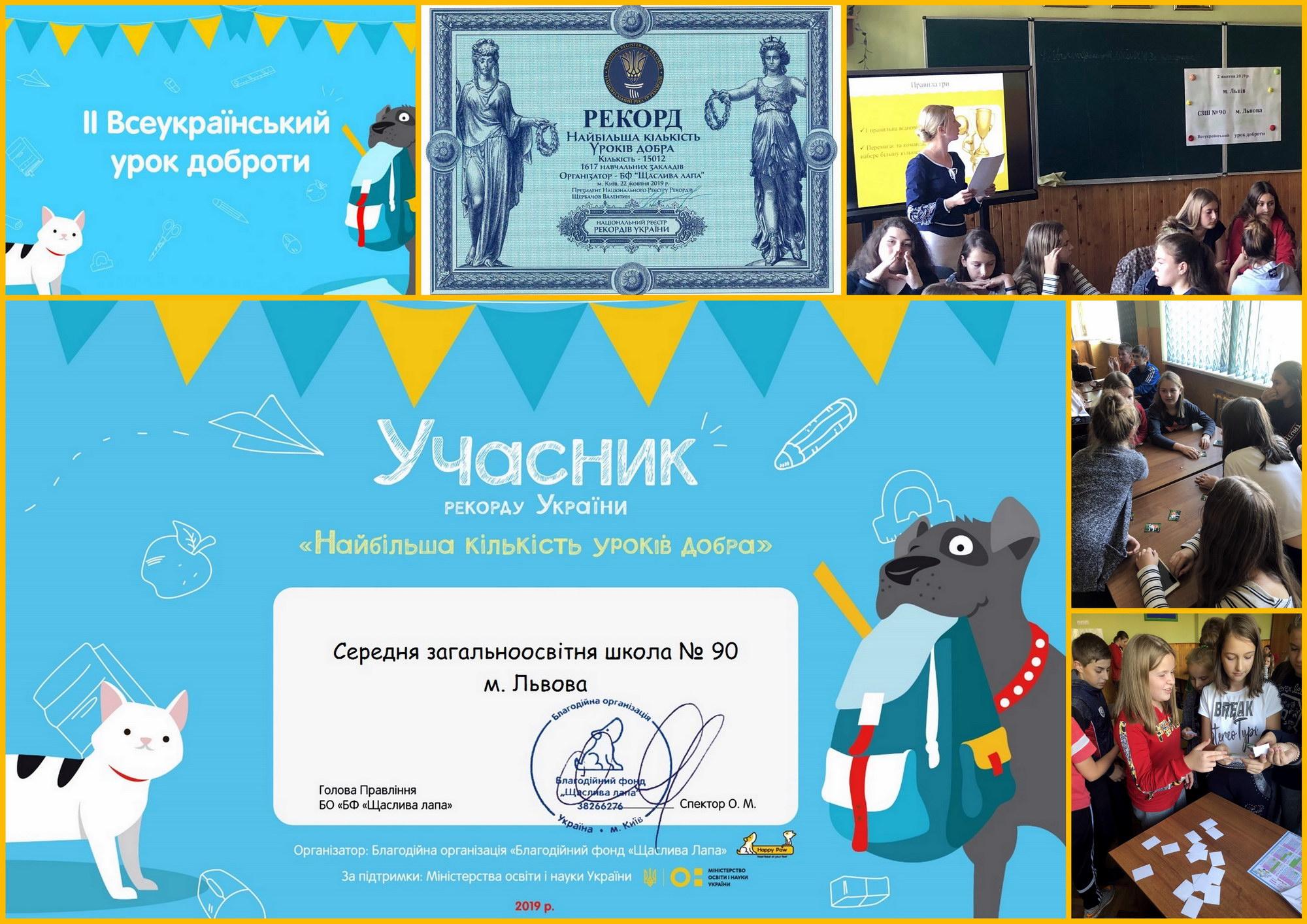 Учні школи - учасники РЕКОРДУ України!