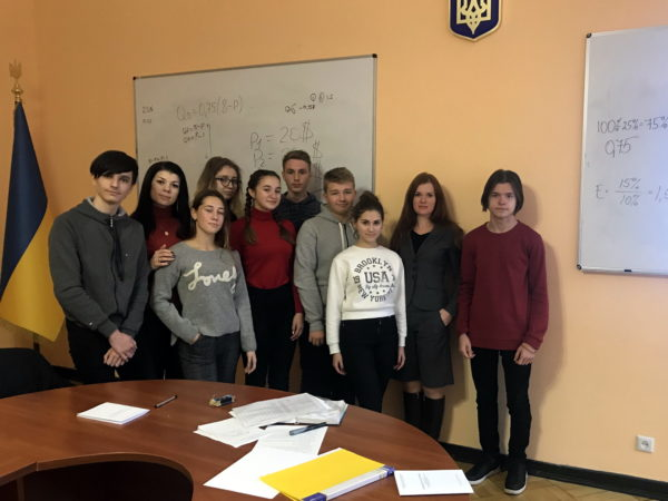 Участь у спільному практичному занятті з економіки з іноземними студентами