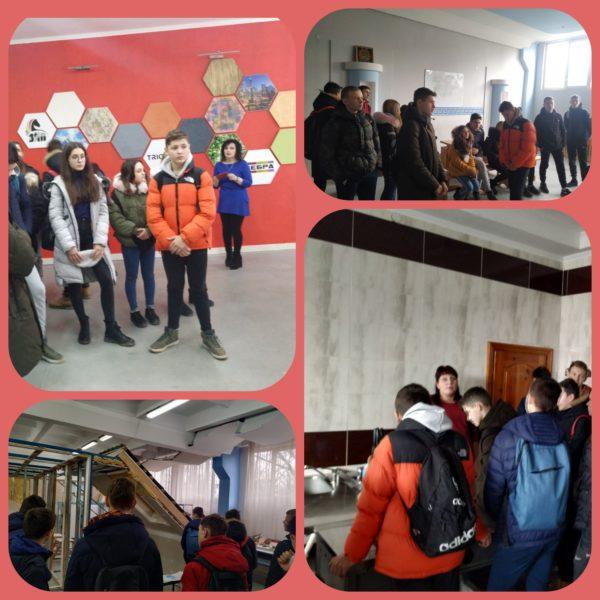 Учні 9 А та 9Б класів з метою профорієнтації відвідали Львівське вище професійне училище дизайну та будівництва